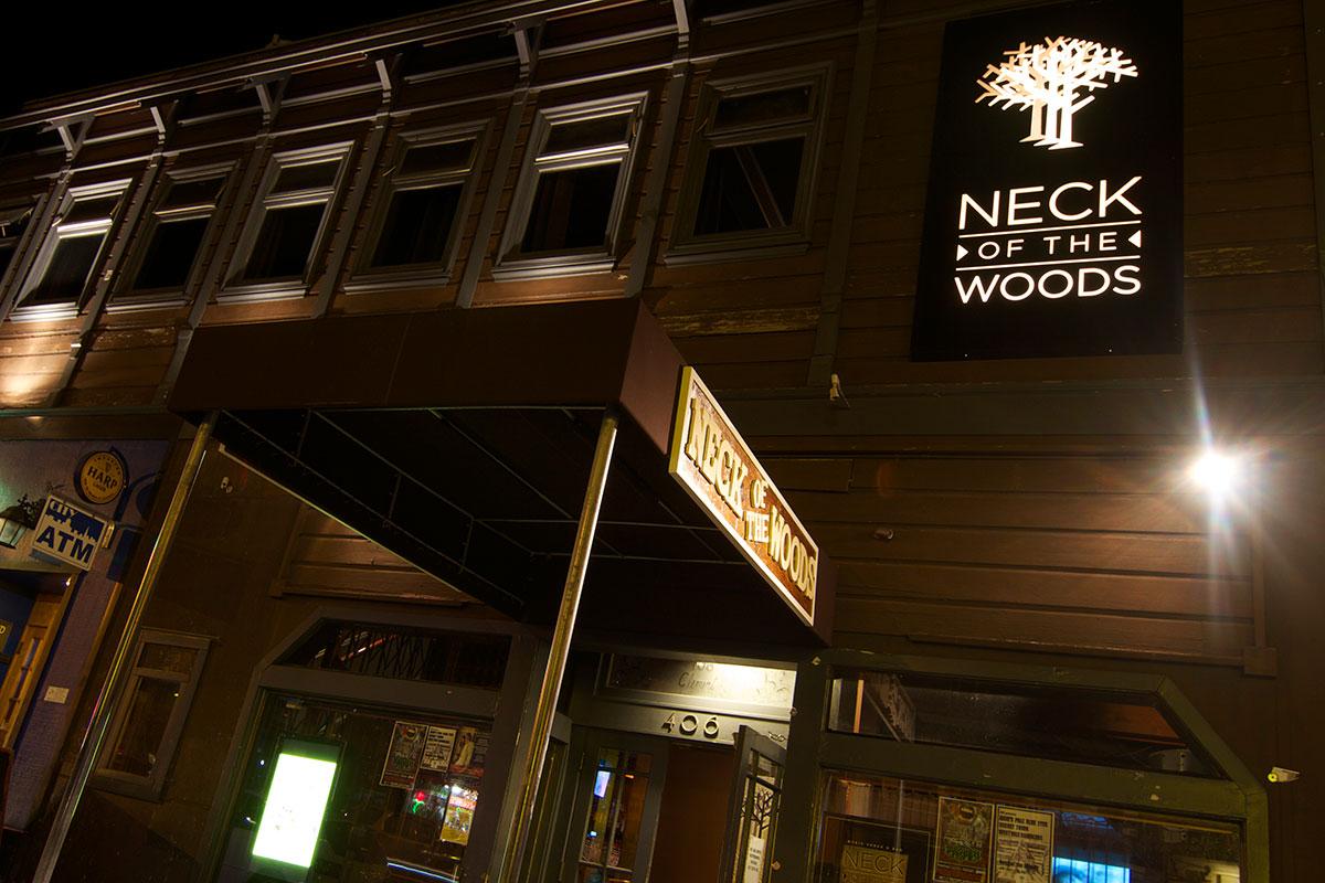 Neck of the Woods Logo & Signage